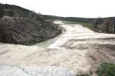 Carretera cortada entre Montejícar y Guadahortuna.