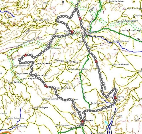 mapa ruta montejicar