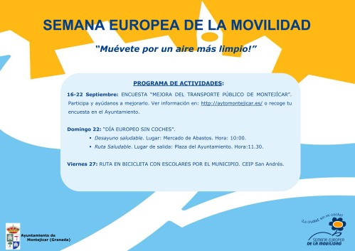 PROGRAMA SEMANA EUROPEA DE LA MOVILIDAD