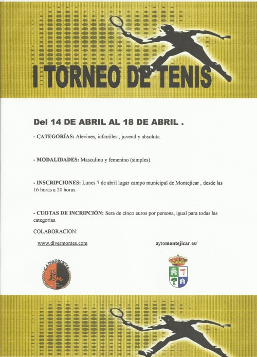 cartel tenis montejícar