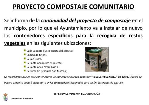 Cartel continuidad proyecto compostaje